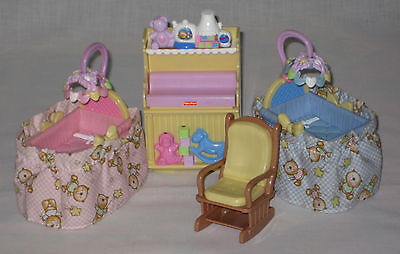 Fisher Price Loving Family Doll House Deluxe Nursery Light And Sound Vgc