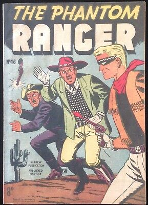 FREW THE PHANTOM RANGER # 46 NRMINT AUSTRALIAN DRAWN COMIC 1950's