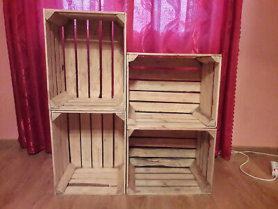 3, 4, 5, 6, 12, 18 & 24 Wooden Apple Crates Vintage Home Decor Strong And Solid