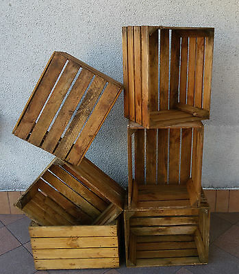 12 Wooden Crates Wooden Box Fruit Apple Boxes Vintage Home Decor Storage Retro