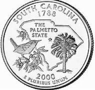 2000 - S. CAROLINA State Quarter / Philadelphia Mint / BRILLIANT UNCIRCULATED