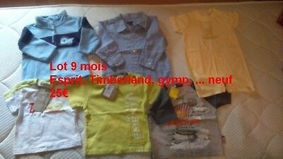 lot 9 mois neuf esprit gymp timberland