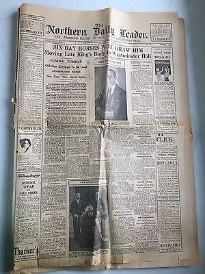 Tamworth Northern Daily Leader Newspaper January 24 1936 King George Funeral