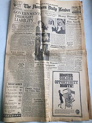 Tamworth Northern Daily Leader Newspaper July 13 1965 Freeze Hits North