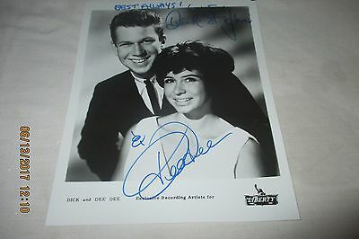 DICK AND DEE DEE - VINTAGE HAND SIGNED 8 x 10 PHOTO