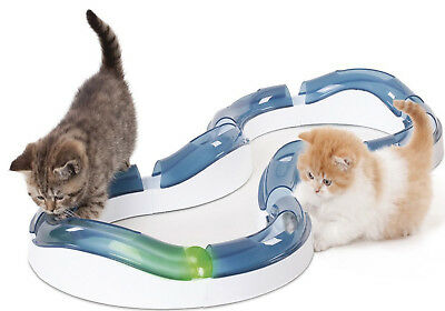 New Senses Super Roller Circuit Kitten Play Chase Track New Catit Design