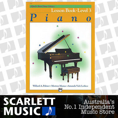 ABPL Alfred's Basic Piano Library Lesson Book Alfreds Level 3 ( Three / Third )