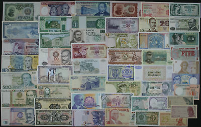 LOT SET of 50 Different WORLD BANKNOTES - NICE COLOURFUL COLLECTION (AU-UNC) #3
