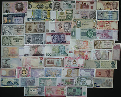 LOT SET of 50 Different WORLD BANKNOTES - NICE COLOURFUL COLLECTION (AU-UNC) #4