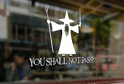 25cm You Shall Not Pass Gandalf The Grey Vinyl Stickers Decal Car Auto Bumper