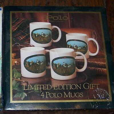 New Polo Ralph Lauren Coffee Mug Gift Set of 4