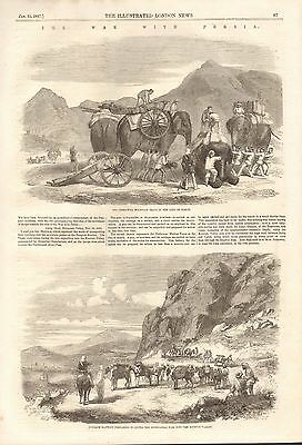 1857 Antique Print- The War With Persia