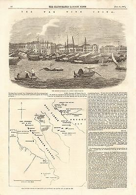 1857 Antique Print- The War With China