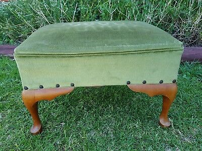 Vintage Queen Anne Style Footstool Foot Stool Ottoman