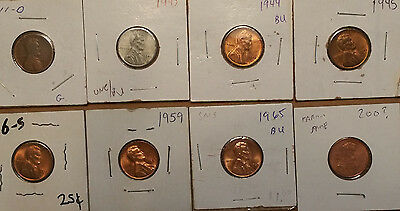 Lot of 8 LINCOLN Cents Most Early UNC/BU + Partial Date