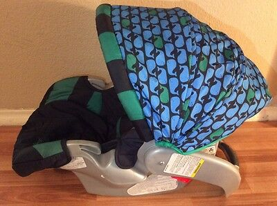 Safety 1st Baby Car Seat Cushion Canopy Set Dorel Cosco Black Green Whale Beach