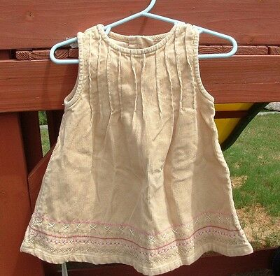 Old Navy Outlet Toddlers Baby Girl's Dress Size 6-12 M Months Corduroy Cotton