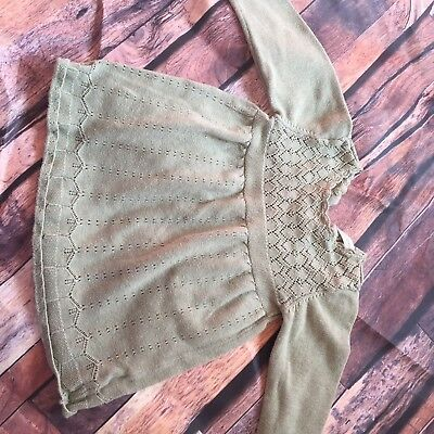 ⭐️NEXT⭐️ 6-9 Months Baby Girl Green Thin Knit Top Dress Outfit Combine Postage