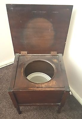 victorian commode Concealed commode chamber pot side table