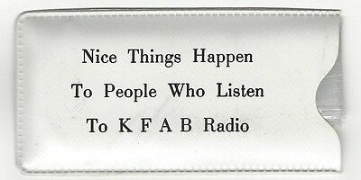 KFAB Radio Vintage Promotional Advertising Item, Raincap in Pouch, Omaha, NE