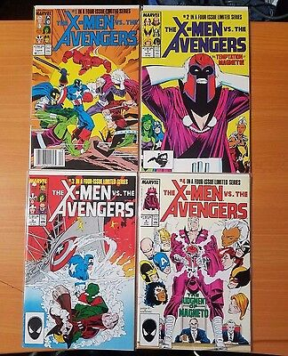 X-Men Vs. Avengers 1-4 Complete Set Run! ~ NEAR MINT NM ~ 1987 Marvel Comics