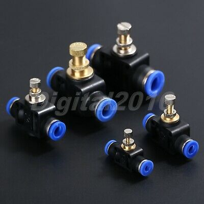 1X Pneumatic Push Connect Cross Hose Pipe Connector Joiner 4mm 6mm 8mm 10mm 12mm
