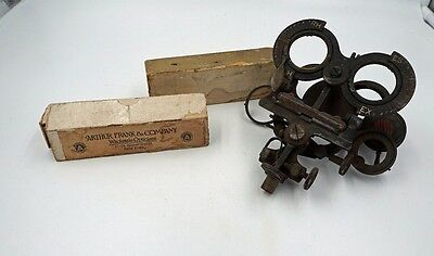 Antique Optometrist OPTOMETER w lenses Steampunk Medical Oddity Metal Optical