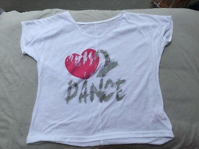 **Love 2 Dance (cropped) T.shirt (size XSmall Adult)**