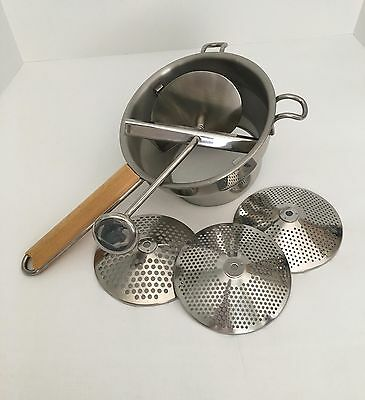 Stainless Steel Rotary Food Mill With Wood Handle