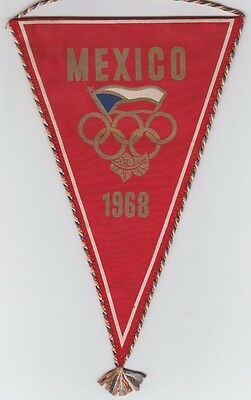 Orig.pennant    Olympic Games MEXICO 1968  // Team CZECHOSLOVAKIA  !!  RARE