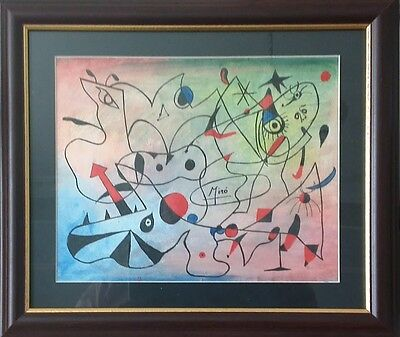 Joan Miro - Framed original watercolour with ink?