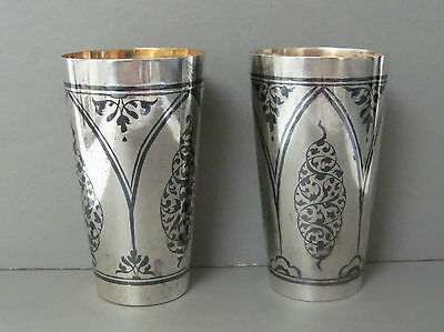 2 Russian Silver 875 Cups Sovietski Collection Kremlin Tableware w/ CoA 96 Grams