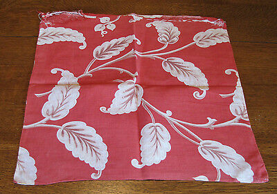 "Vintage Feed Sack Salmon Pink Large Floral 16"" Square Pillow Case?"
