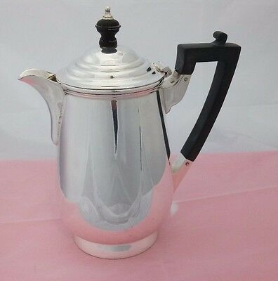 Silver Plate Coffee or Hot Water Pot - Black Handle & Finial  James Dixon & Sons