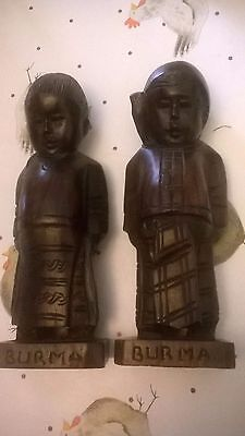 Burmese wooden figures