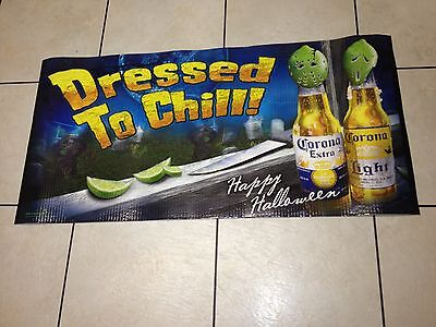 corona extra halloween scary jason beer sign man cave advertising game room bar