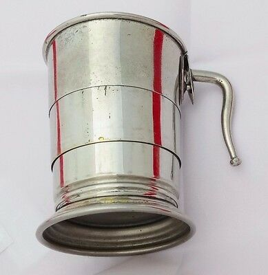 Vintage Silver Plate Collapsible Drinking / Hunting Cup by James Dixon