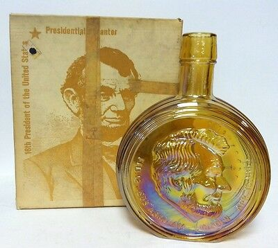 Vintage Wheaton Nuline Honest Abe Lincoln Iridescent Presidential Decanter LNIB