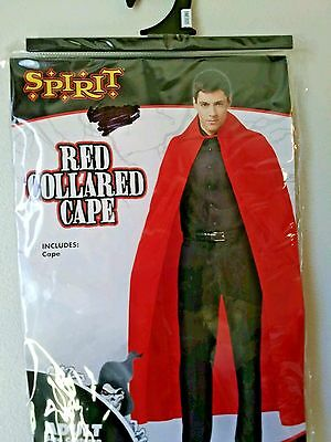 SPIRIT Red Collared Cape Halloween Costume Accessory Adult O/S Brand New