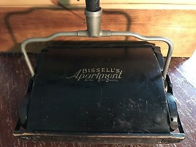 Antique Vintage Bissell's Apartment Hi Lo Ball Bearing Sweeper Vacuum