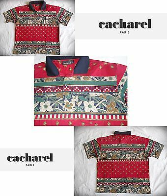 Polo Shirt Cacharel Top Vintage Maglia Fashion size L (A12)