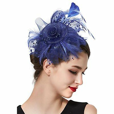 Feather Fascinator Hats & Caps Headband For Women Tea Party Derby Pillbox Hat