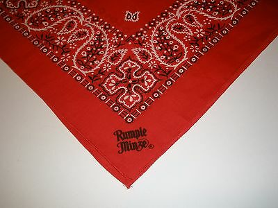 "UNUSED RUMPLE MINZE RED BANDANA 21"" Cotton Made USA"