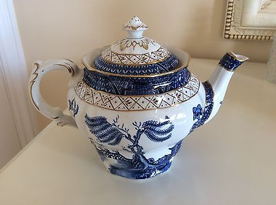 Booths Real Old Willow Pattern Teapot A8025 Blue & White China