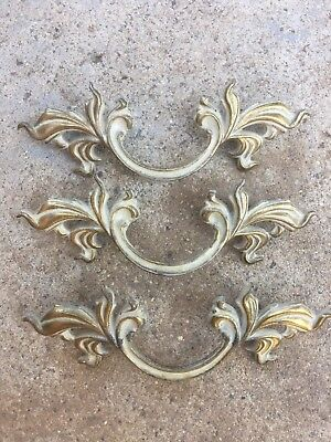 Vintage French Provincial Drawer Pulls Handles (3)