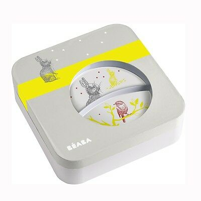 BEABA Gift Meal Set - BUNNY Baby Weaning Plate Bowl Cup Utensils