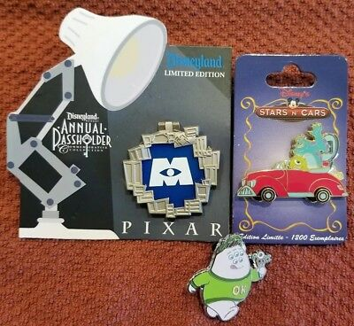 Disney Monsters Inc Pin Lot of 3 ALL Limited Edition 1 AP & 1 DSF DSSH PTD!