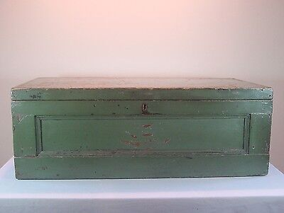 Trunk  Wood Original Green Paint Free Local Pickup Available American Antique