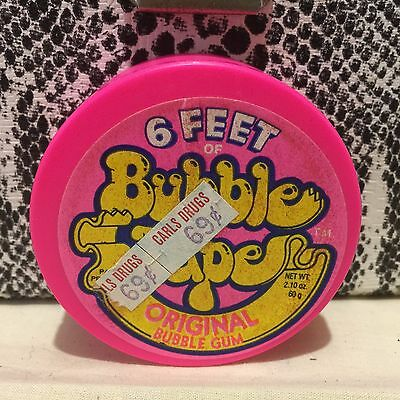 Vintage 1988 Amurol BUBBLE TAPE Gum Can Container Candy Original