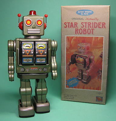 Original Star Strider Robot Green Roboter Grün Made By Sh Horikawa Japan